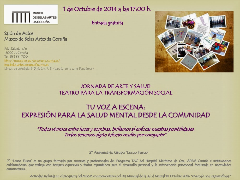 Xornadas de Teatro na Coruña o 1 de outubro