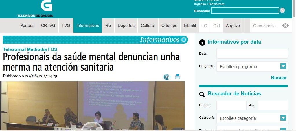 Telexornal Fin de Semana: Profesionais da saúde mental denuncian unha merma na atención sanitaria