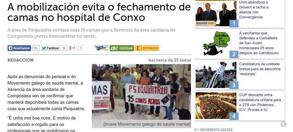 Sermos Galiza: A mobilización evita feche de camas