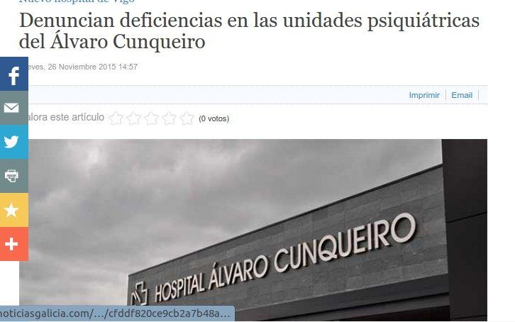 Noticias Galicia: denuncian deficiencias nas plantas de Psiquiatría do HAC