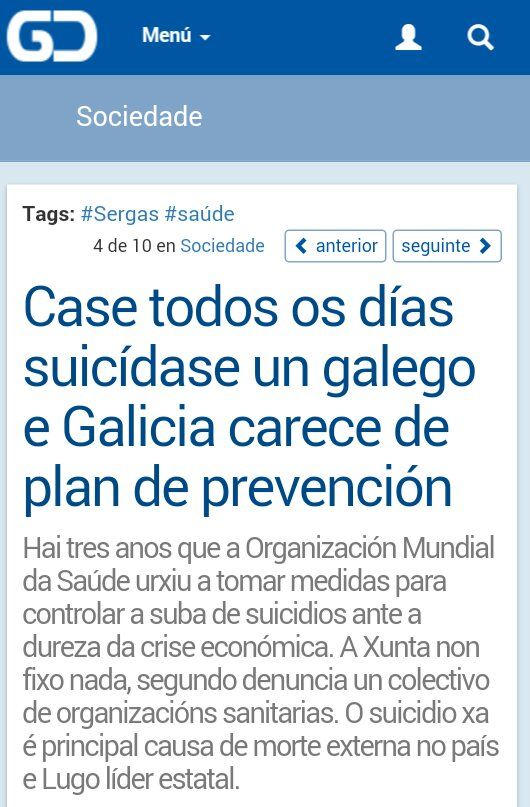 Galicia Confidencial: case todos os días suicídase un galego