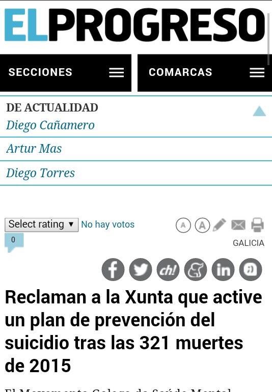 El Progreso: reclaman á Xunta un plan de prevención do suicidio