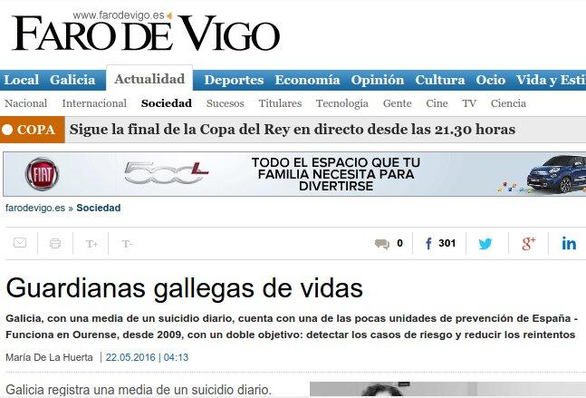 Faro de Vigo: gardiás galegas de vidas