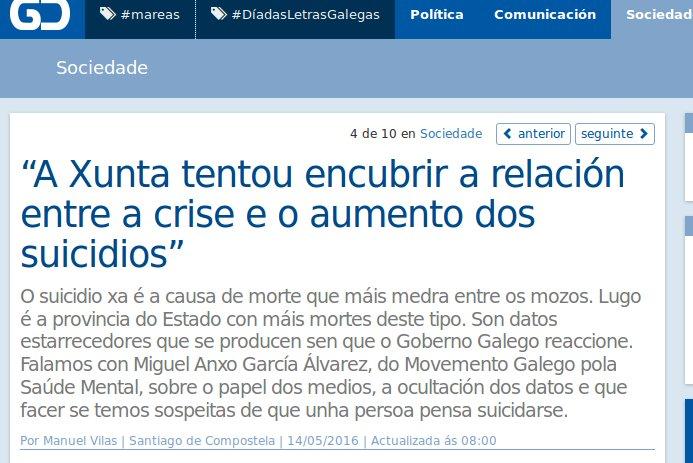 Galicia Confidencial: entrevista con Miguel Anxo García Álvarez sobre o suicidio en Galiza