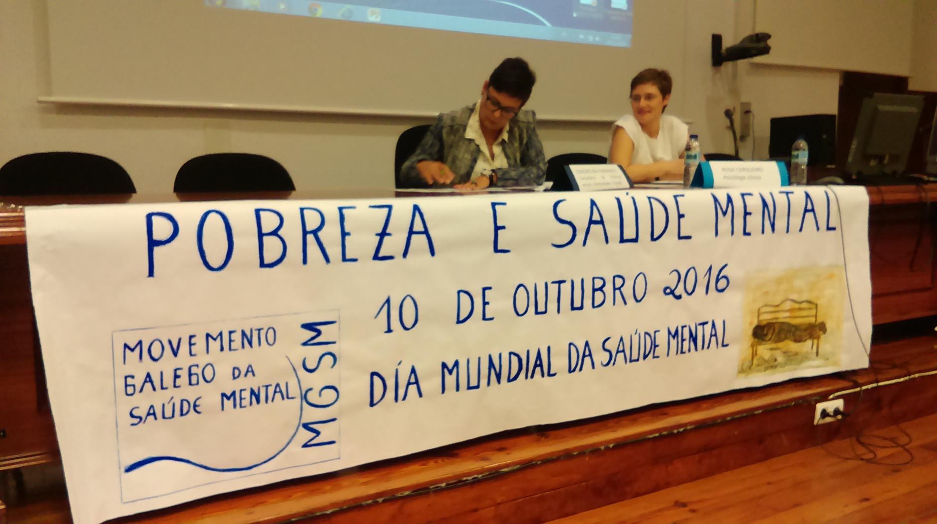Xornadas do MGSM do 10 de outubro: pobreza e saúde mental