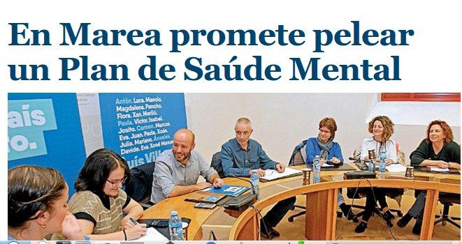 El Correo Gallego: En Marea promete pelexar por un plan de Saúde Mental