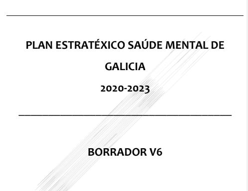 Novo proxecto de Plan Galego da Saúde Mental 2020-2023